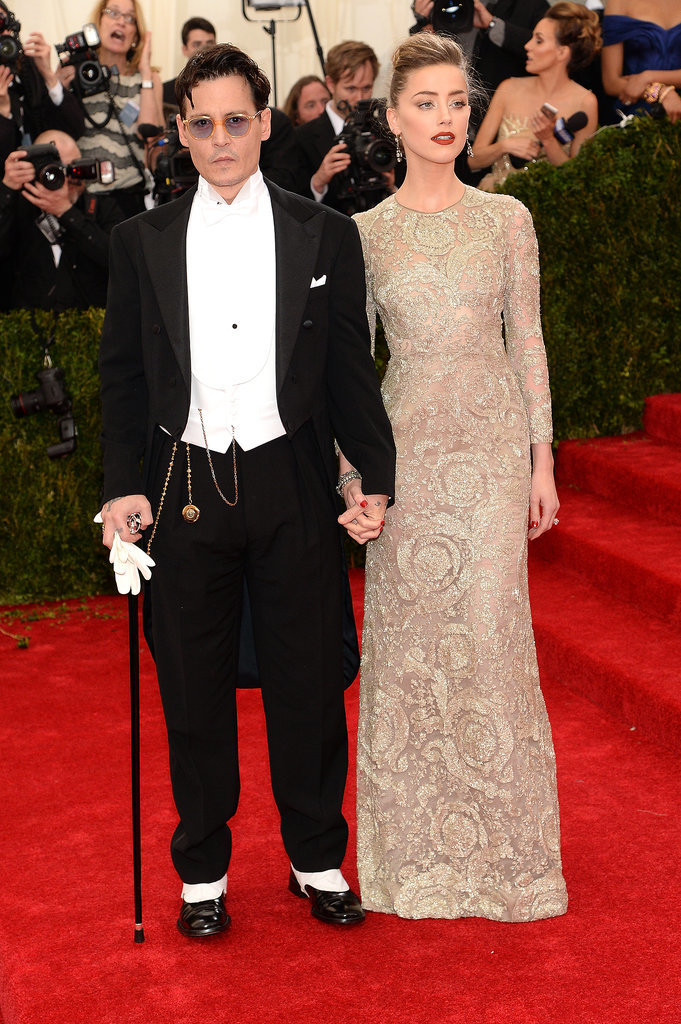 Johnny Depp and Amber Heard at the 2014 Met Gala
