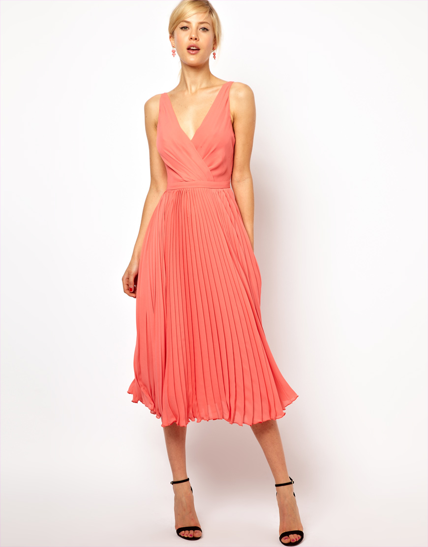 Coral Dress For Wedding Guest - Gown And Dress Gallery
