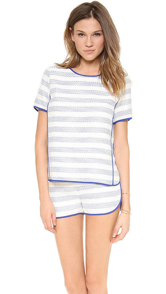 Line & Dot Short-Sleeve Top