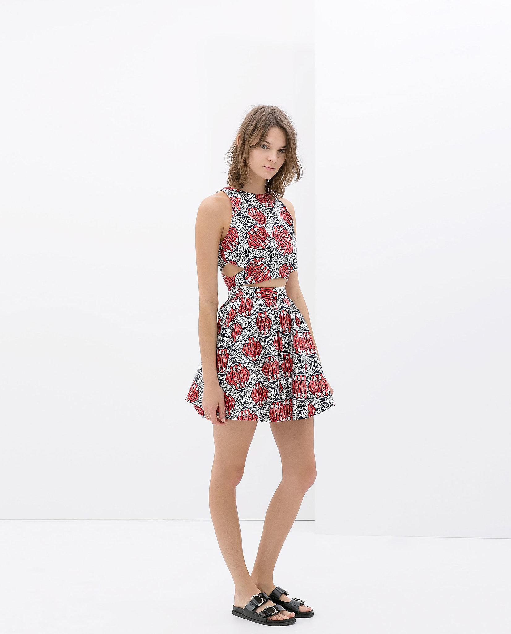 Zara Printed Cutout Dress
