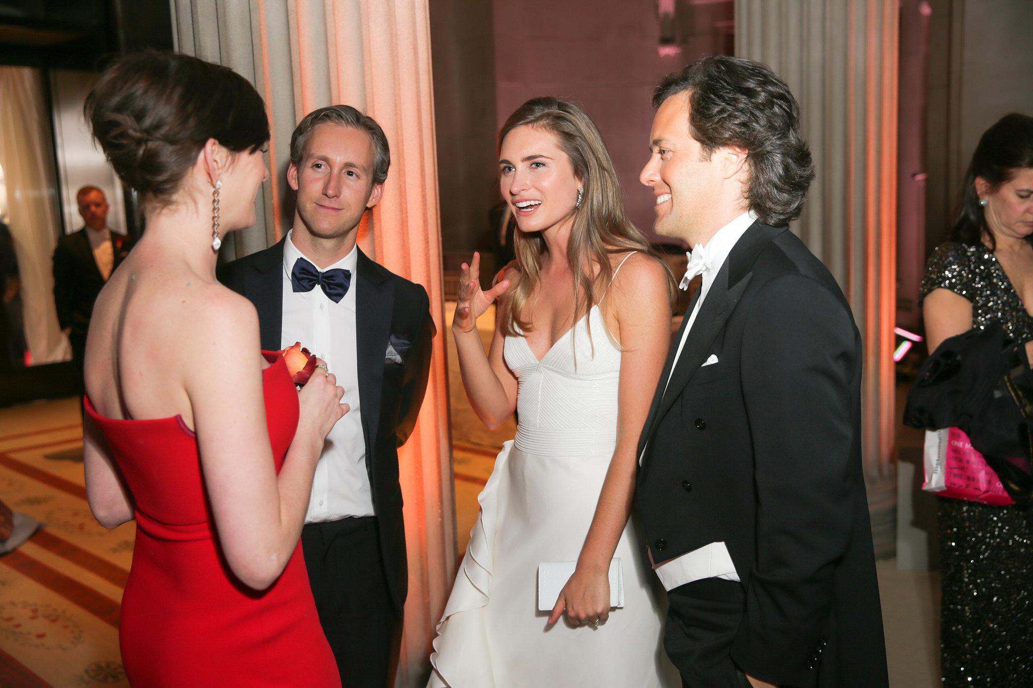 Anne Hathaway and her husband, Adam Shulman, met up with Lauren Bush Lauren and David Lauren.