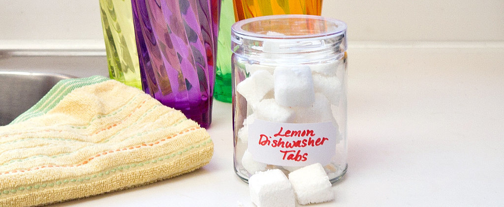 DIY Lemon Dishwasher Detergent Cubes