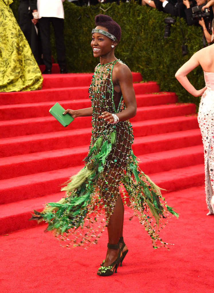 Lupita Nyong'o twirled in her Prada dress.