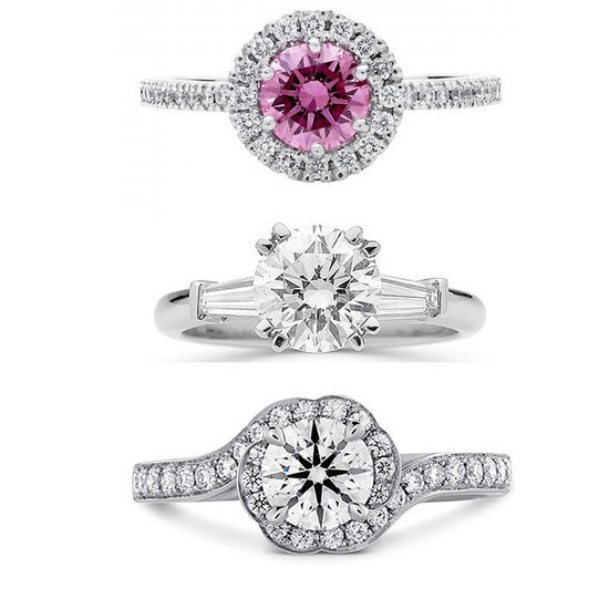 Shop White Gold and Platinum Engagement Rings