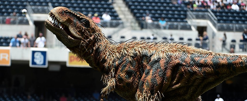 T. Rex Throws Out First Pitch; Life Finds a Way