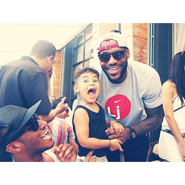 Phyllon Joy Gorré got the thrill of a lifetime posing for a photo with LeBron James in Miami. Source: Instagram user doutzen