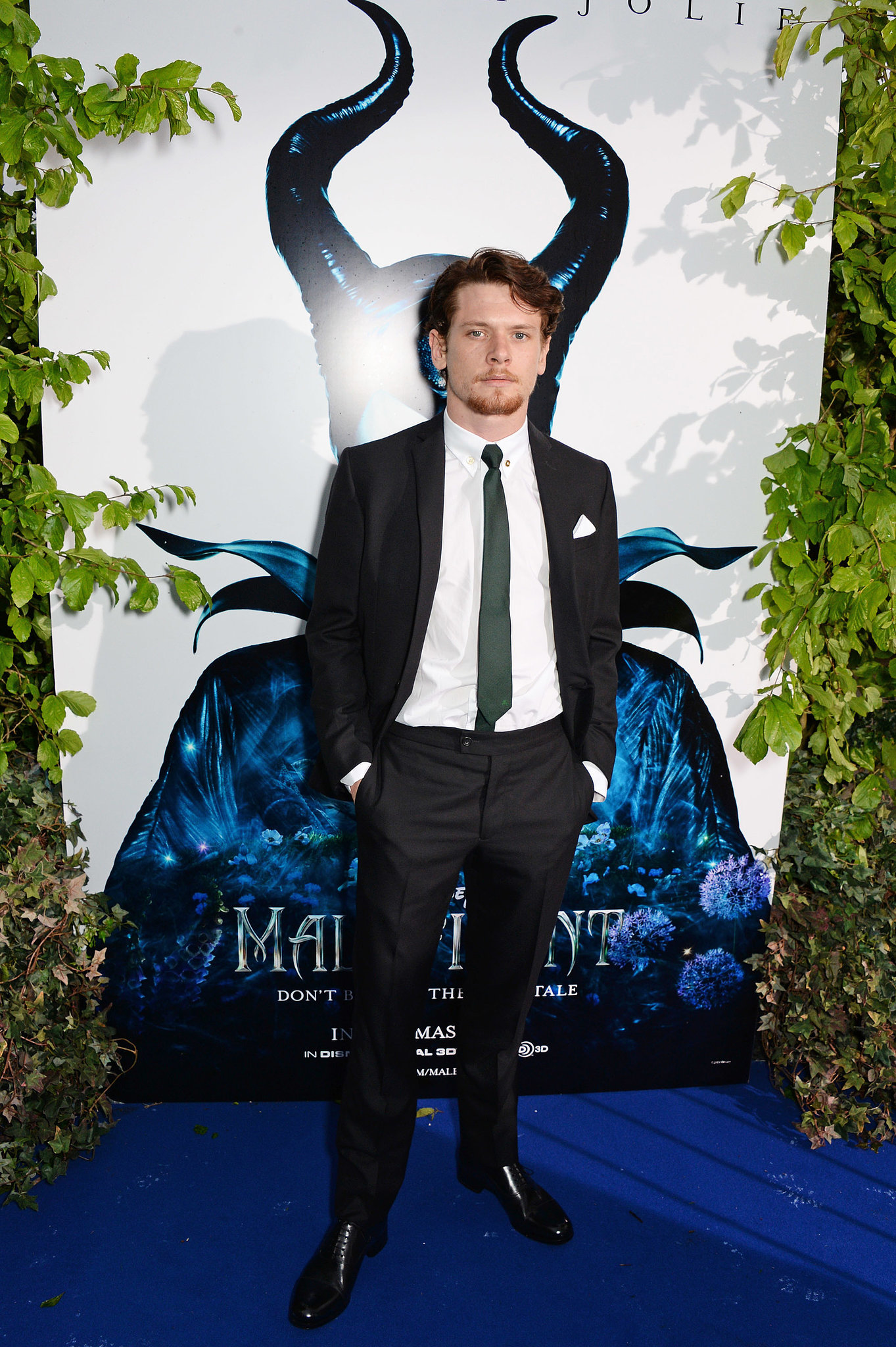 Unbroken star Jack O'Connell showed up to support Angelina.