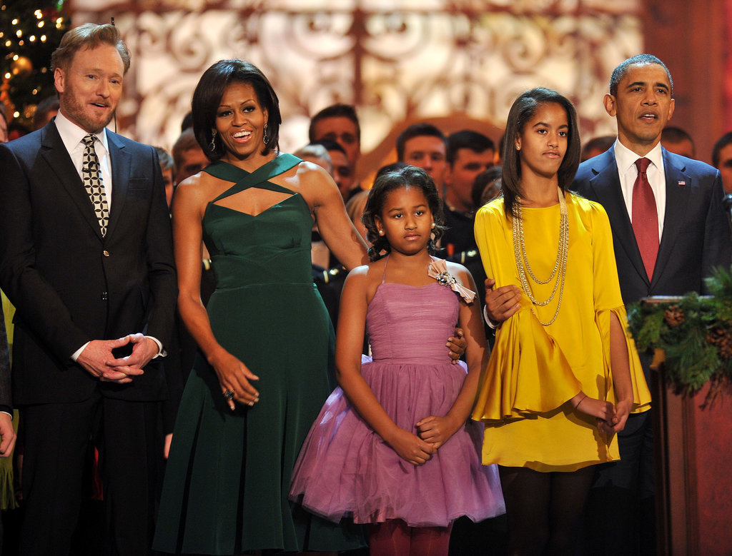 For Christmas 2011, the three wore their holiday best at the National Building Museum.