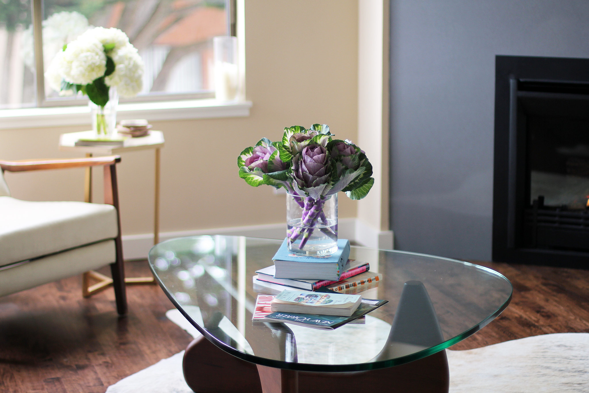Would you believe those are kale flowers in that vase? It's one more essential picked by Annie for its wow factor.