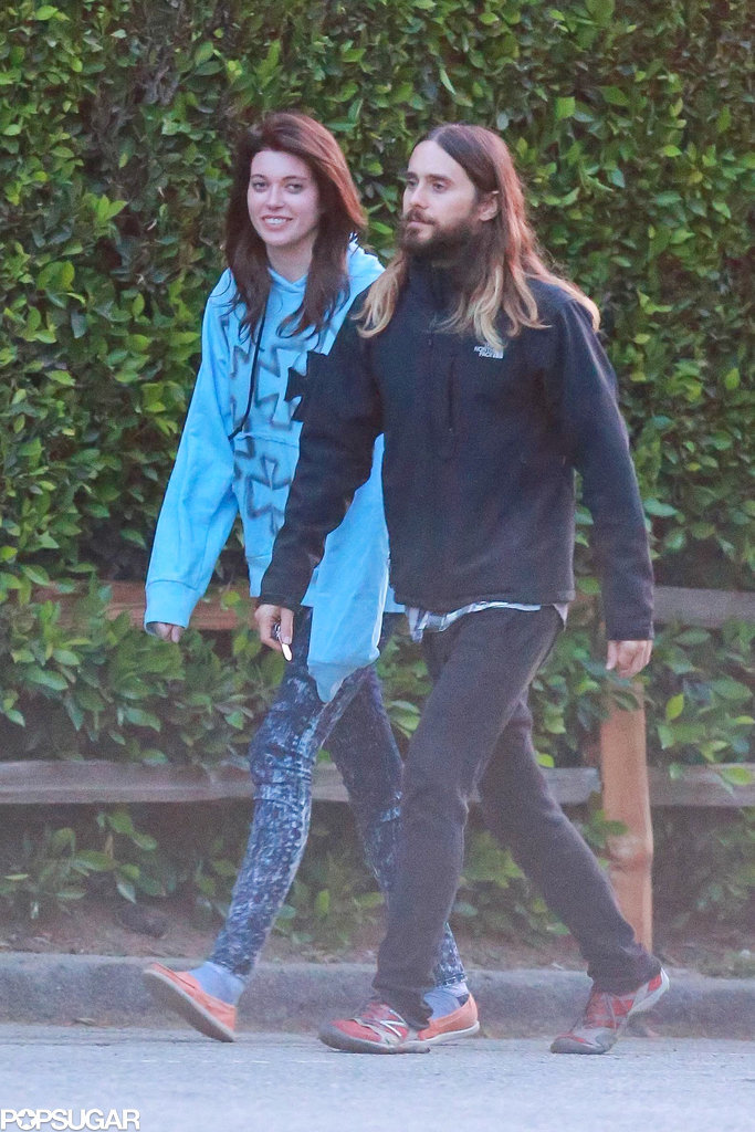 Jared Leto Hikes With a Mystery Brunette Before Jet-Setting