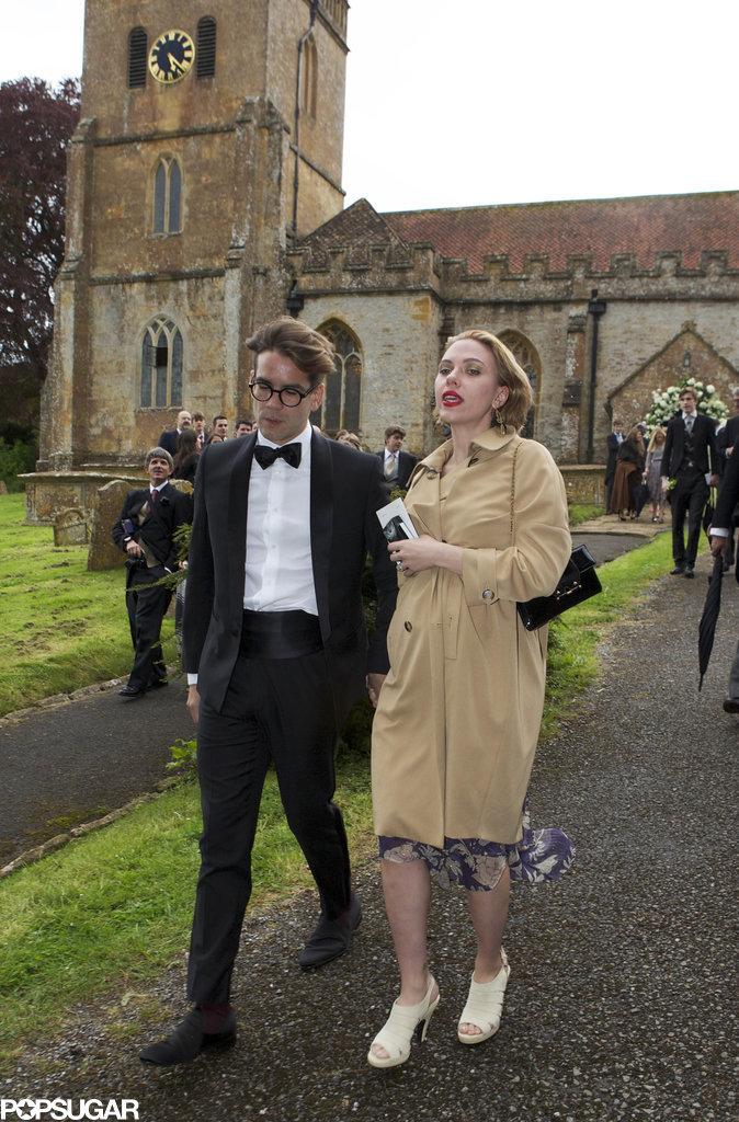 Scarlett Johansson Shows Off Her Pregnancy Glow at a Wedding