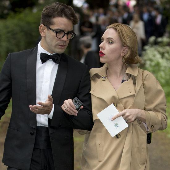 Pregnant Scarlett Johansson and Romain Dauriac at a Wedding