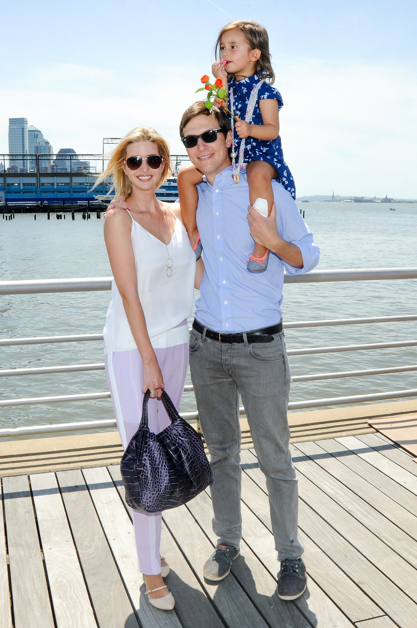 Ivanka Trump and Jared Kushner brought their daughter, Arabella Kushner, to the party.
