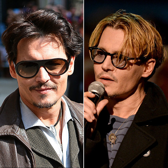 Does Johnny look better as a blond or brunet?