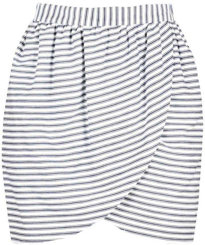 Harvey Faircloth Striped Skirt