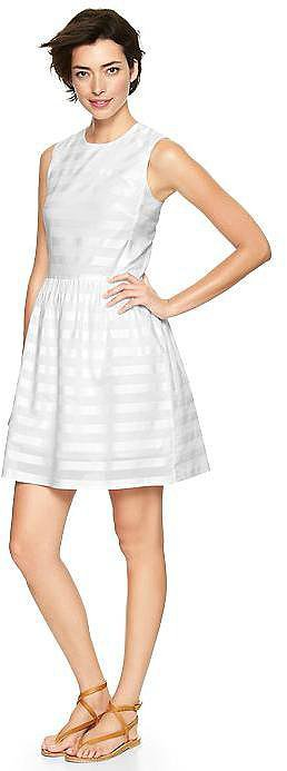 Gap Stripe Fit and Flare Dress