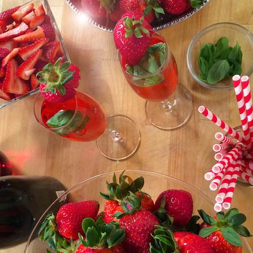 Strawberry Kir Royale