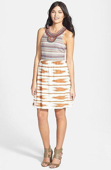 Lucky Brand Mixed Media Dress