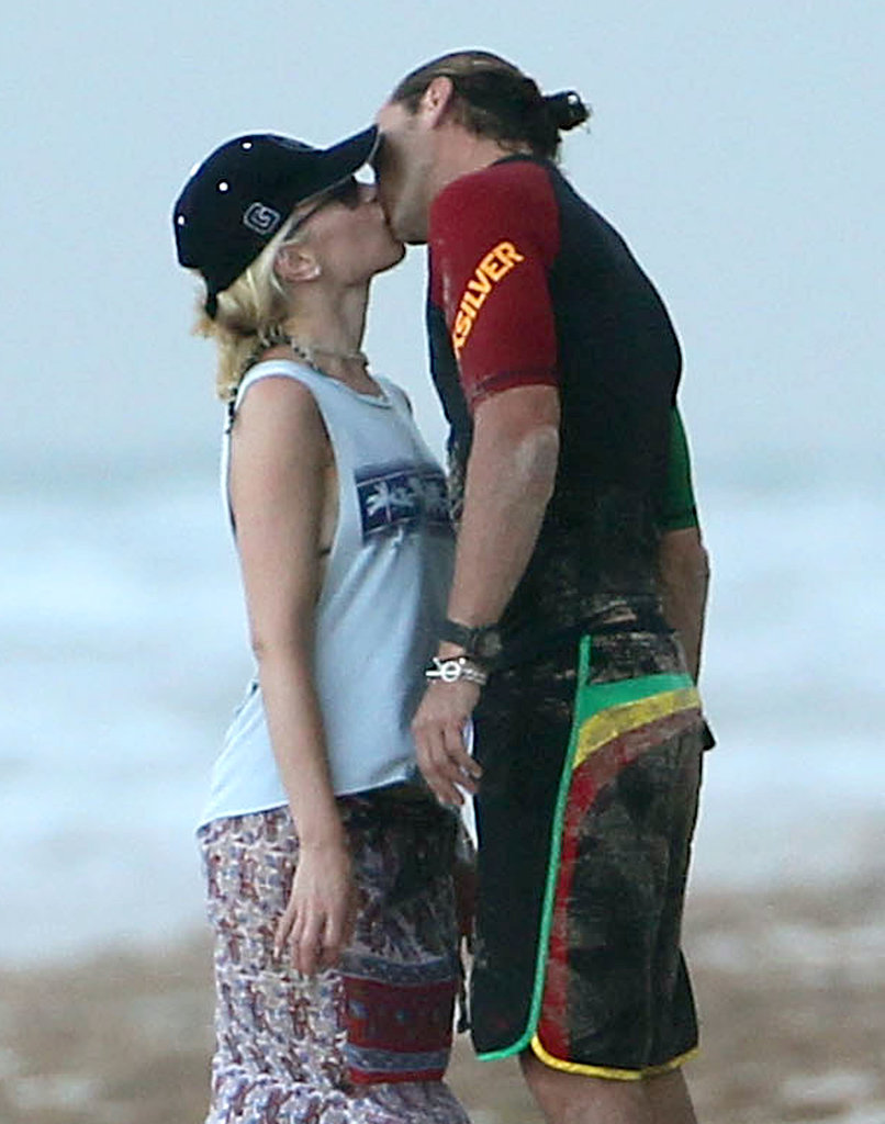 Gwen Stefani and Gavin Rossdale held hands and shared a kiss during their August 2012 stay in Miami.