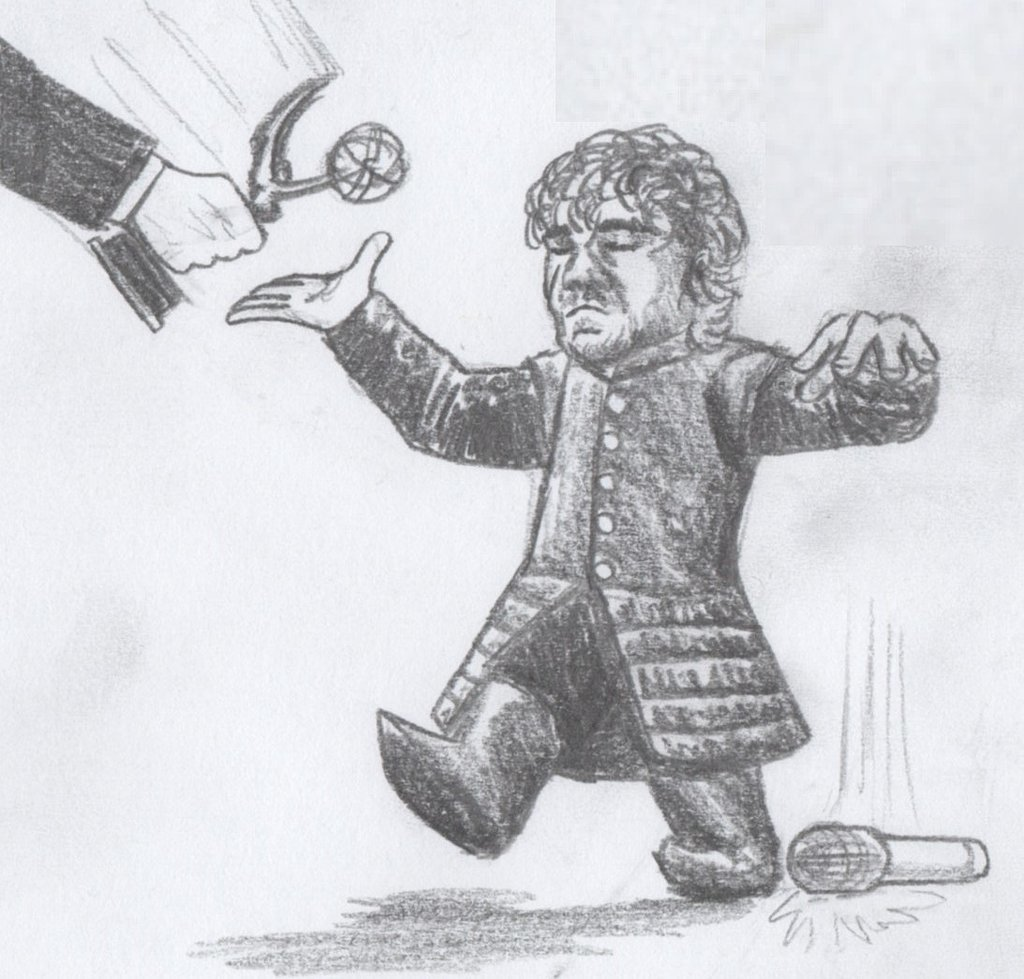 """Peter Dinklage after this episode..."" Source: Reddit user AWildSketchAppeared via Imgur"