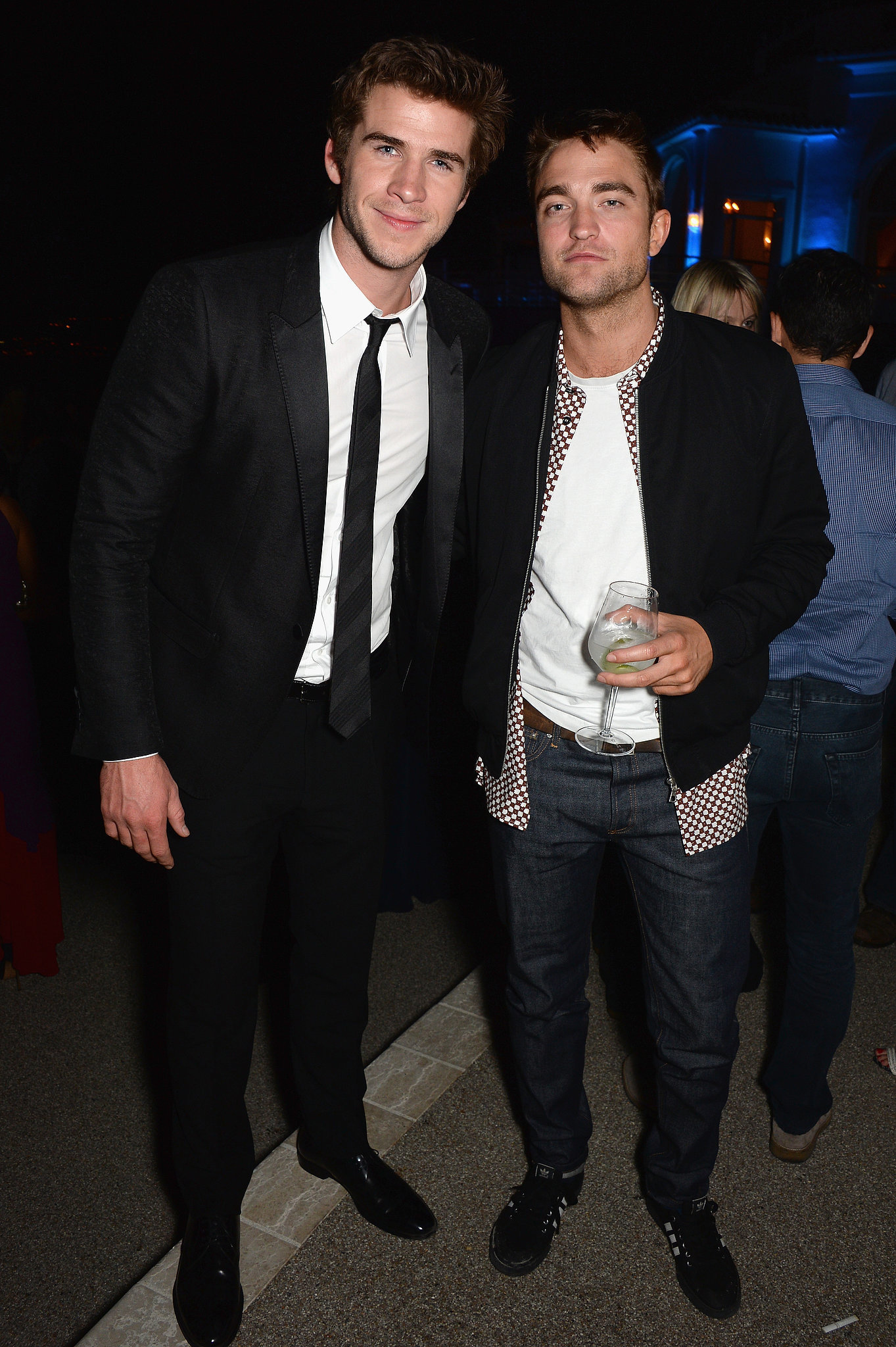 Robert Pattinson and Liam Hemsworth Let Loose at Vanity Fair's Cannes Bash