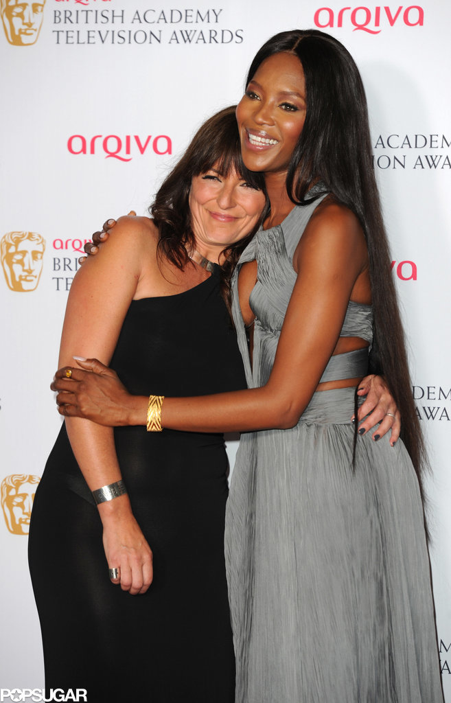 Naomi Campbell and Davina McCall shared a sweet hug on the red carpet at the British Academy Television Awards in London on Sunday.