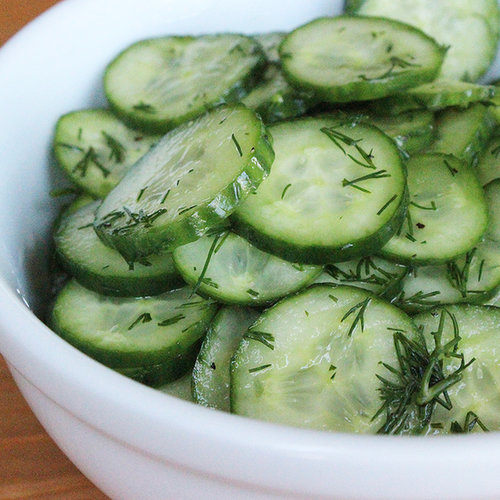 Recipe For Sweet and Sour Cucumbers With Fresh Dill