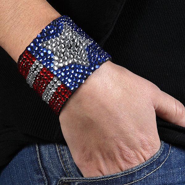 Patriotic Sparkly Cuff