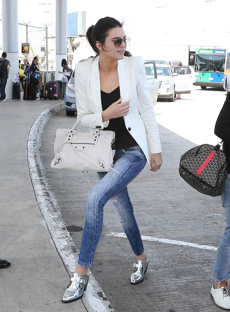 Kendall Jenner looked chic while arriving at LAX.