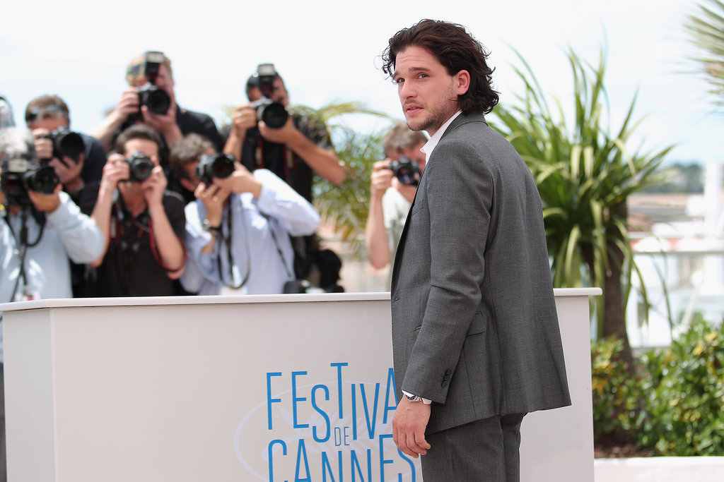 Kit Harington looked especially hot at the photocall for How to Train Your Dragon 2.