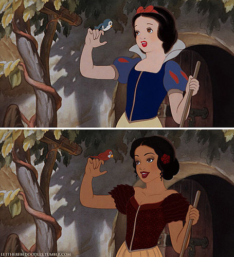 Snow White as a Different Race