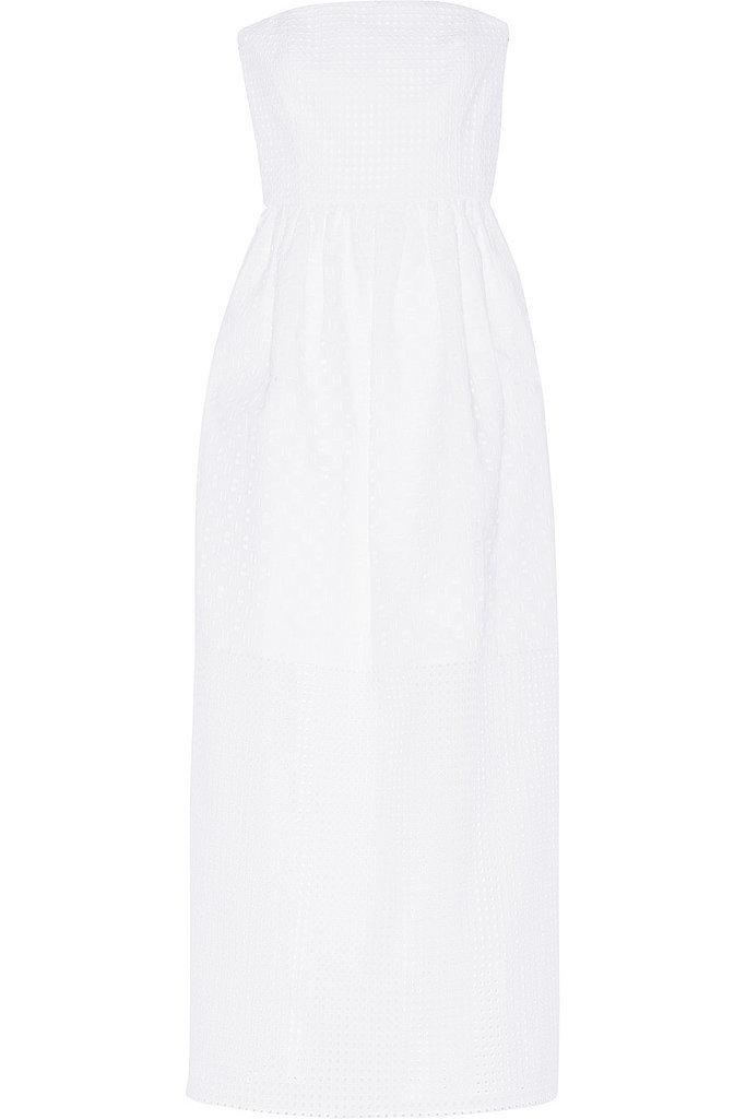 Tibi White Strapless Dress