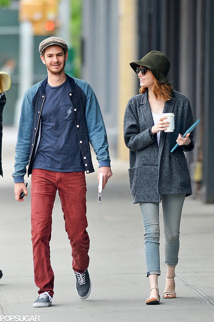 Emma Stone and Andrew Garfield Bring Their PDA Back Home
