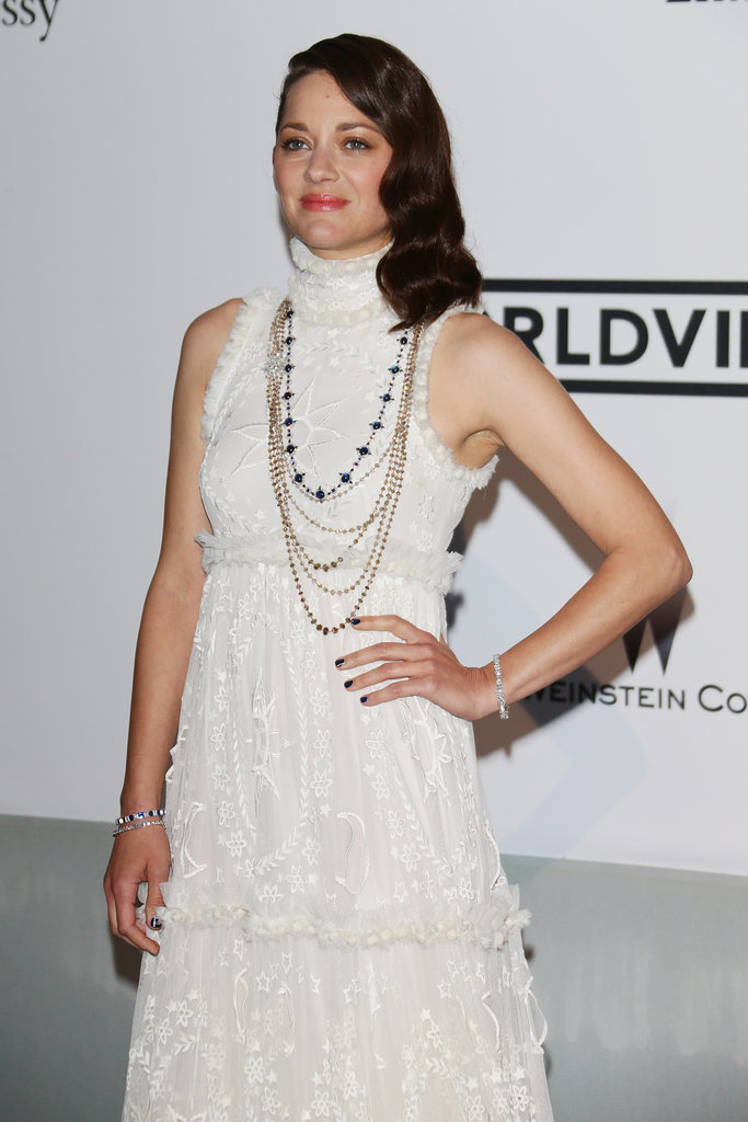 Marion Cotillard was radiant in white.