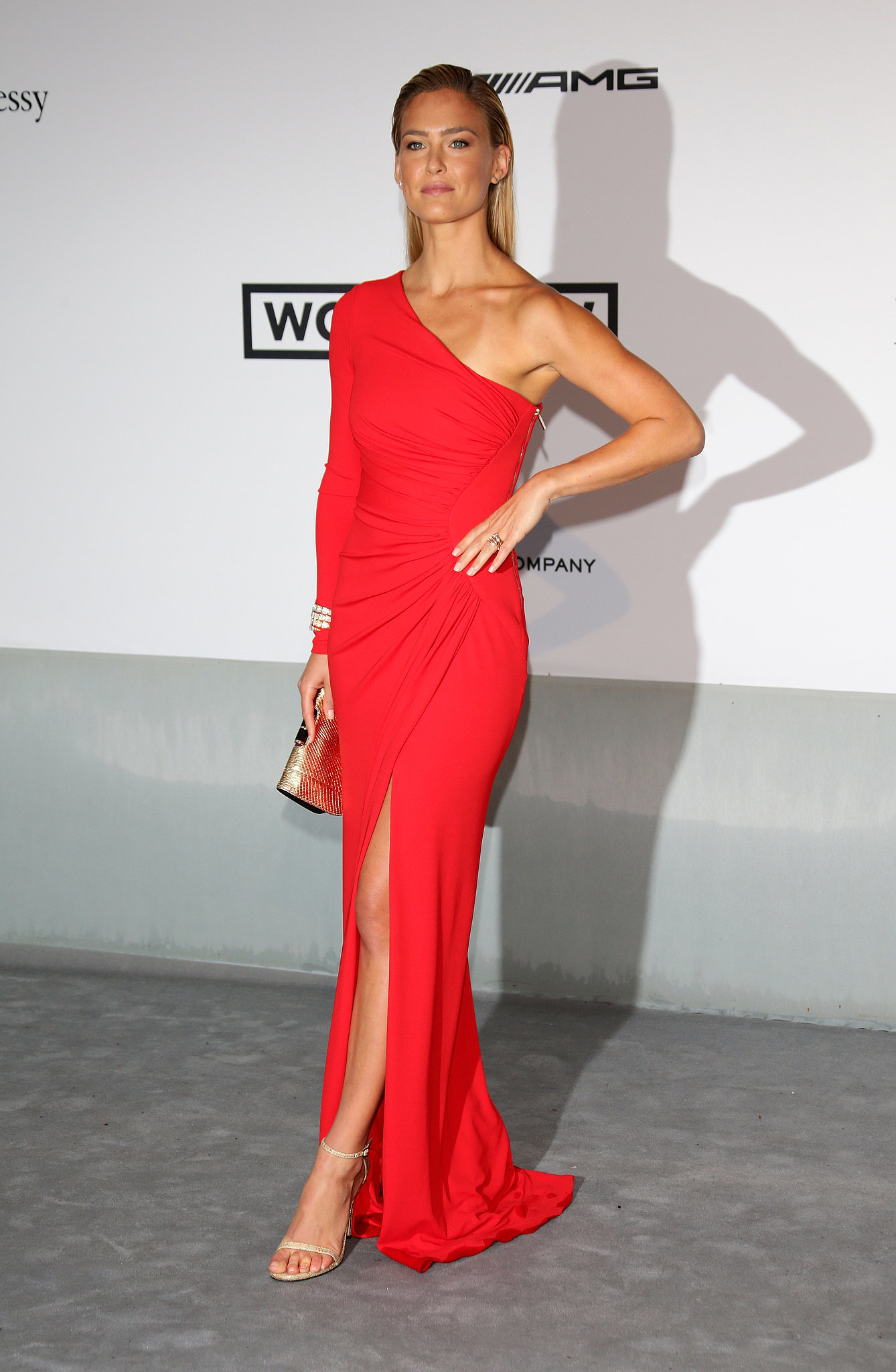 Bar Refaeli wore red to the event.