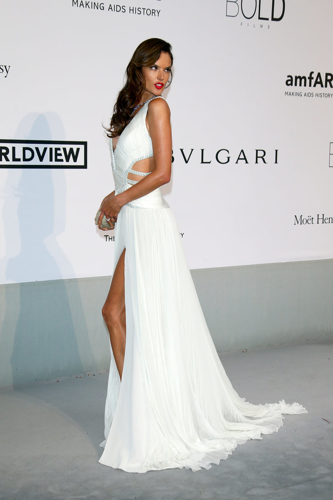 Alessandra Ambrosio showed some leg.