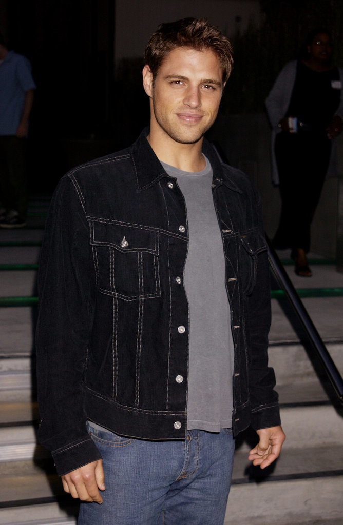 Sam stepped out looking superstudly in 2002.