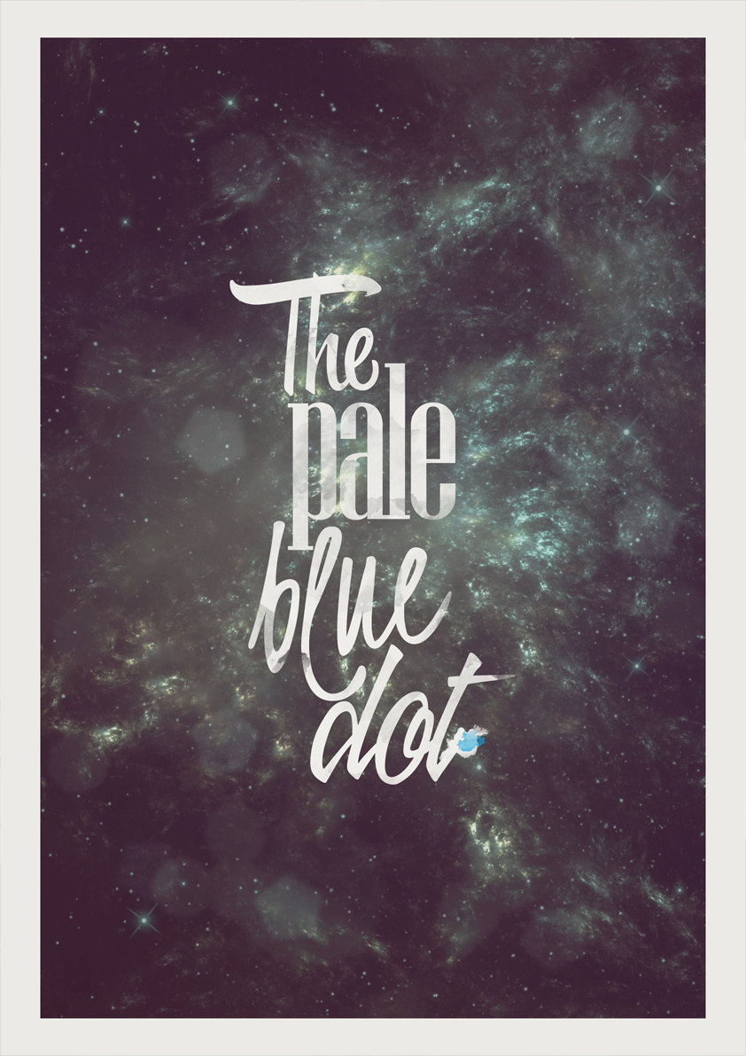 """If you're not interested in the whole speech, opt for this """"pale blue dot"""" poster ($17) by Etsy user shuckledesigns."""