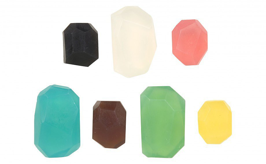 You can't go wrong adding a few colorful soap stones ($8-$16) to your powder room.