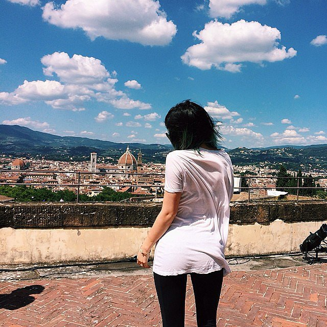 """Kylie Jenner said """"goodbye"""" to the gorgeous Italian countryside. Source: Instagram user kyliejenner"""