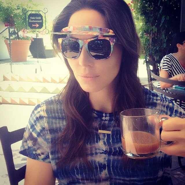 Whitney Cummings wore flip-up shades while hanging in Ojai, CA. Source: Instagram user whitneyacummings