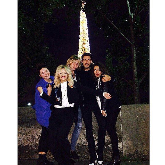 Rita Ora made a pit stop in Paris. Source: Instagram user ritaora