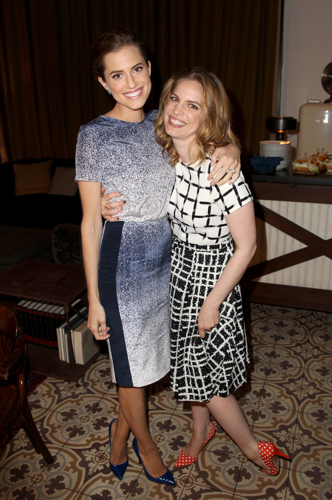 Allison Williams and Anna Chlumsky posed at a Samsung event at Variety Studio on Wednesday in LA.