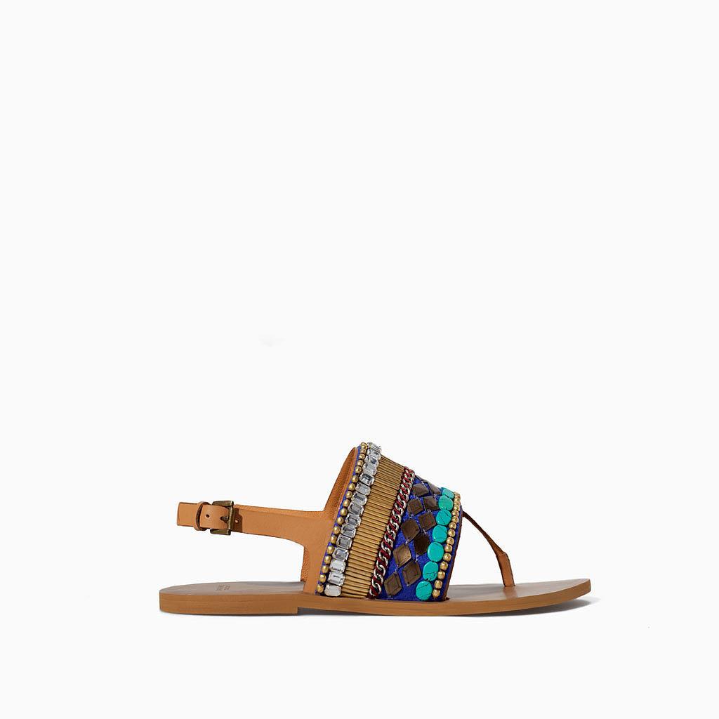 Zara Ethnic Flat Sandals