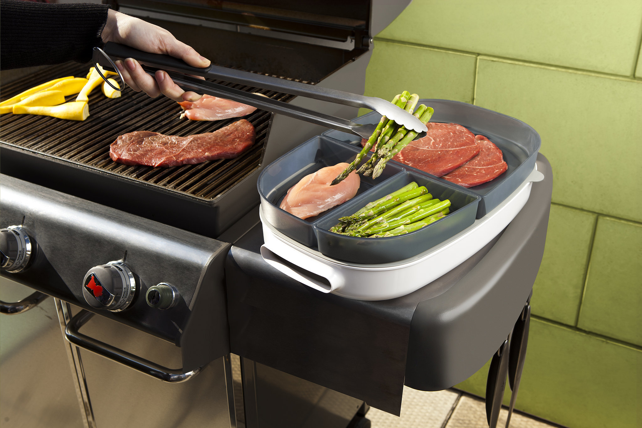 Grilling Storage and Tray in One