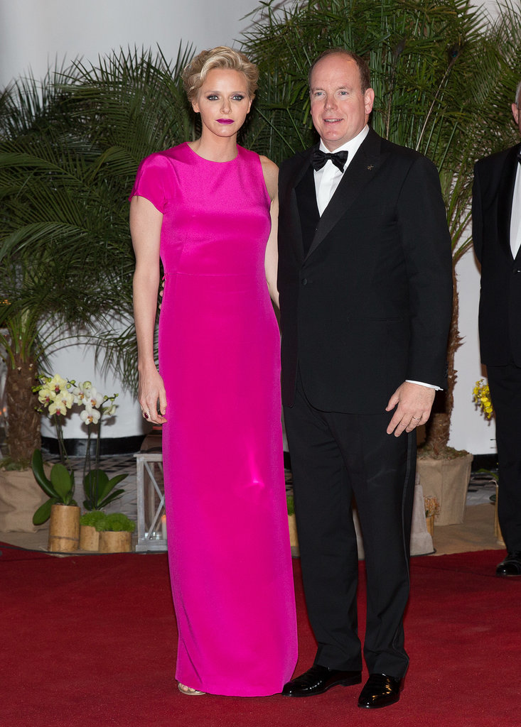 Prince Albert II and Princess Charlene of Monaco stepped out for the Grand Prix of Monaco Gala dinner in May 2014.