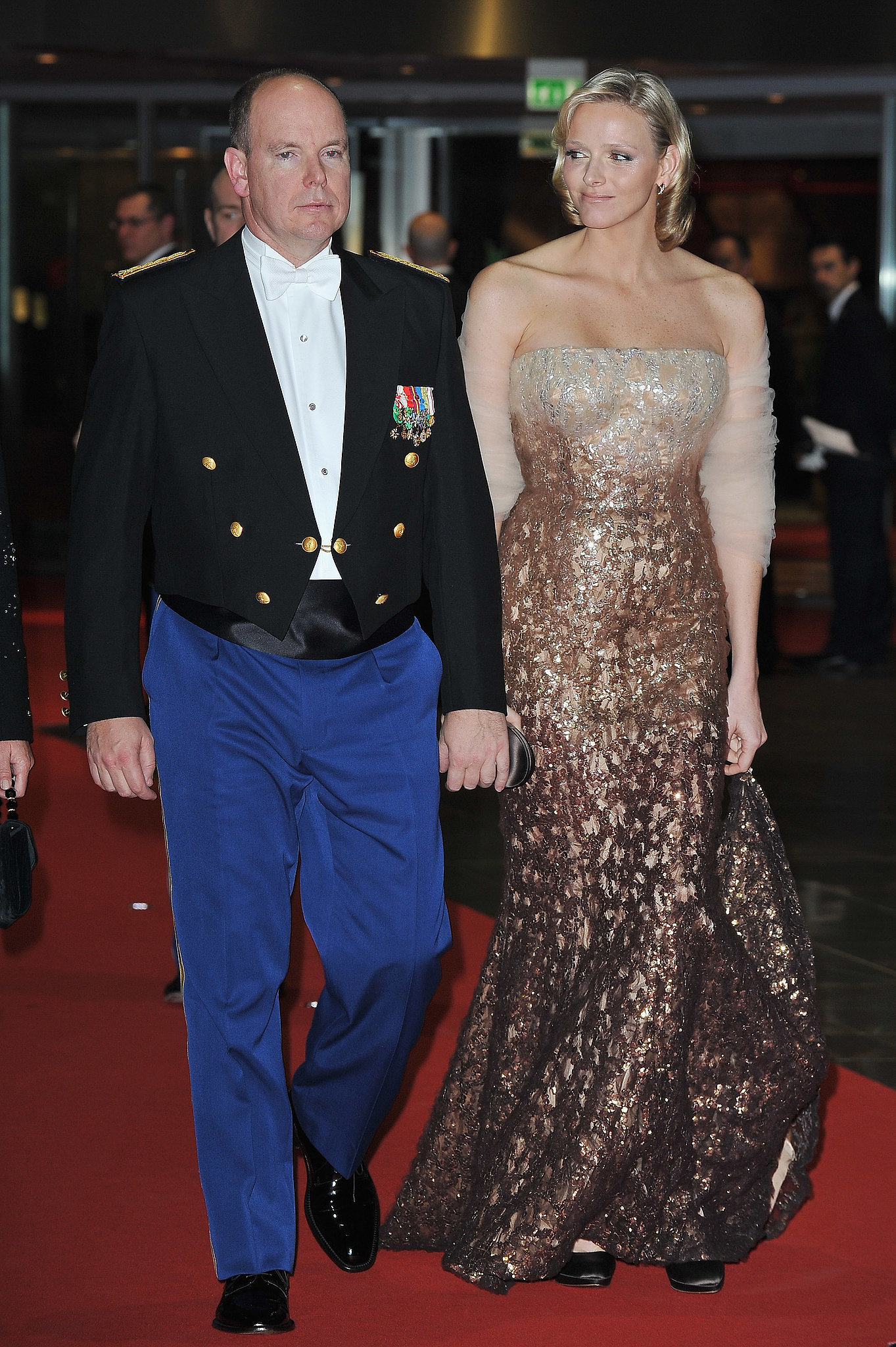 Prince Albert and Princess Charlene arrived at the Monaco National Day Gala in 2010. Source: Getty / Pascal Le Segretain