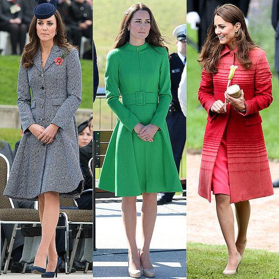 Kate Middleton Style, Kate Middleton Wearing Colourful Coats