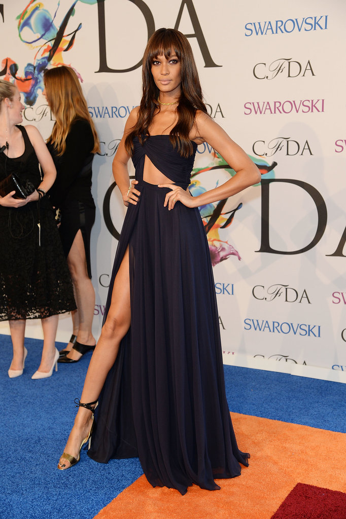 Joan Smalls showed skin at the CFDA Awards.