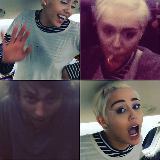 Miley Cyrus's Private-Jet Dance Party Is Blowing Up on Instagram